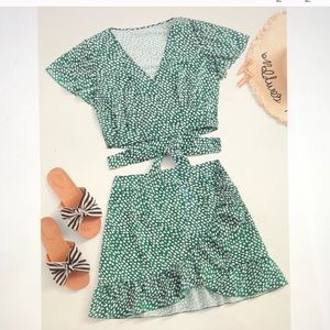 Two Piece Crop Top and Skirt Bundle